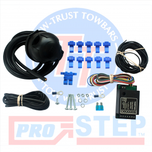 7 Pin Universal Tow Bar Wiring with 7 Way Bypass Relay