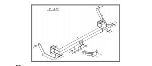 Citroen C5 Estate (X72) 2008 - 2016 - Tow Trust Flange Tow bar