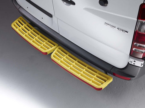 Mercedes Vito Rear Step 2003 to 2014 Rhino Yellow Twin (No Sensors) SafeStep™
