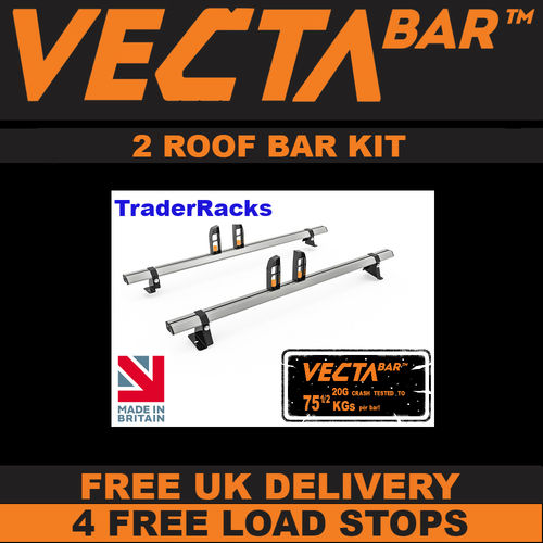 Fiat Doblo March 2010 Onwards - 2 or 3 VECTA Bar Roof Rack Kit