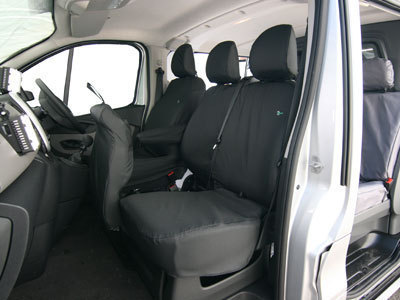 Vehicle Specific Professional Quality Waterproof Van Seat Covers - Renault Trafic 2014>