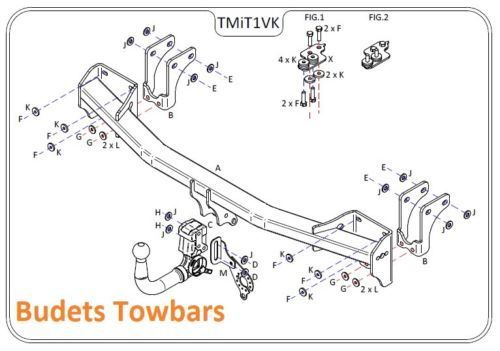 mitsubishi outlander  inc  phev  2013 onwards - tow trust detachable tow bar kit