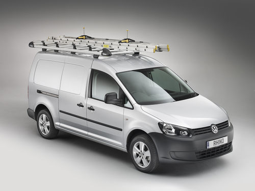 Rhino Aluminium Trades Rack - Volkswagen Caddy (L1, Barn Doors) 2010 Onwards