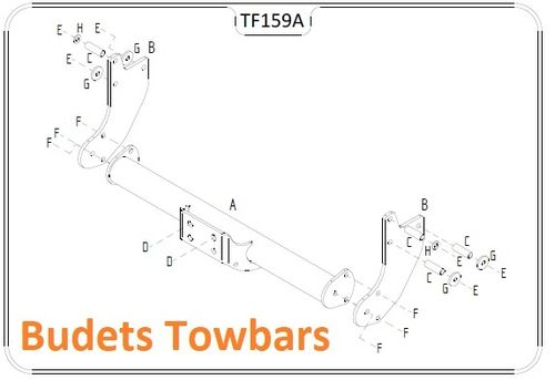 Transit Chassis Cab RWD (Inc.Tipper) 2000-2014 - Tow Trust Fixed Flange Tow Bar