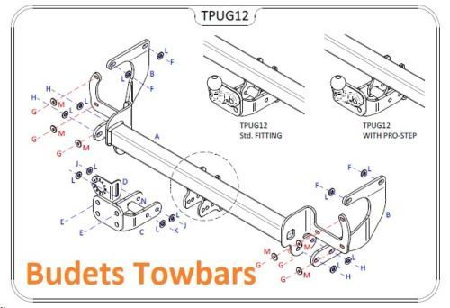 Peugeot Expert 2016 Onwards - Tow Trust Fixed Flange Tow Bar