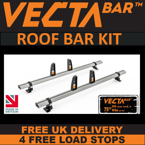 VECTA Bar Roof Rack Kit - Vauxhall Vivaro Sep 2014 to Jun 2019