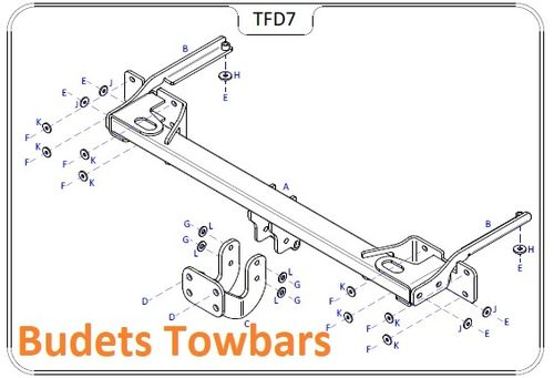 Ford Connect Van 2014 Onwards - Tow Trust Fixed Flange Tow Bar Kit