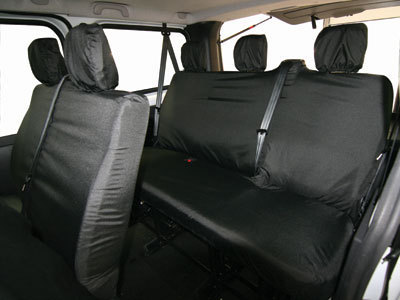 Vehicle Specific Professional Quality Waterproof Van Rear Seat Covers - Ranault Trafic Kombi 2014>