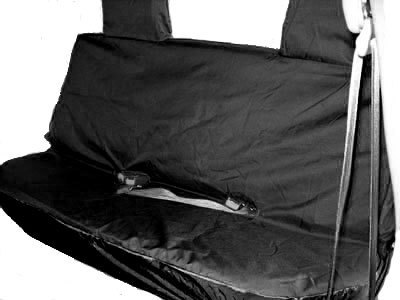Professional Quality Van Rear Seat Covers in Waterproof Black Finish - Ford Ranger Rear Pre 2012