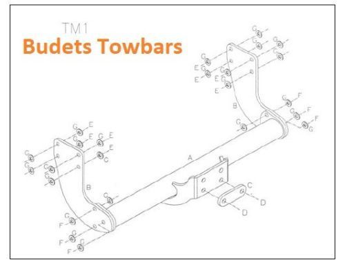 Mercedes Sprinter Tow Bar Van No Step 2006 > 2018 Tow Trust Tow Bars