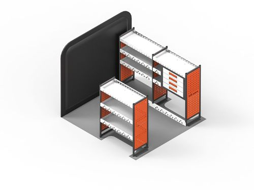 Transit Connect (L2) 2014 > - MAXIM Full 4 Draw & 3 Shelf Racking Kit