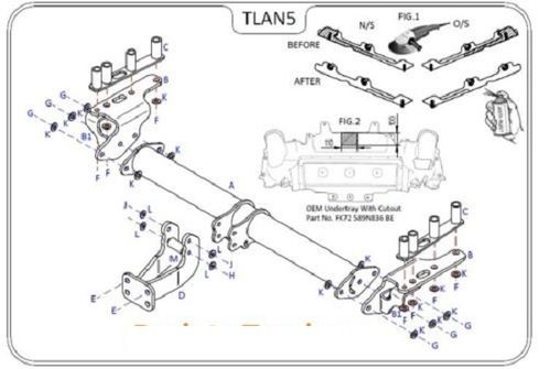 Land Rover Discovery Sport (No Spare) 2015 - 2019 - Tow Trust Flange Tow Bar