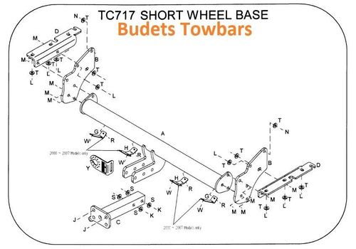 Mitsubishi Shogun LWB & SWB  2007 Onwards - Tow Trust Flange Tow Bar Kit