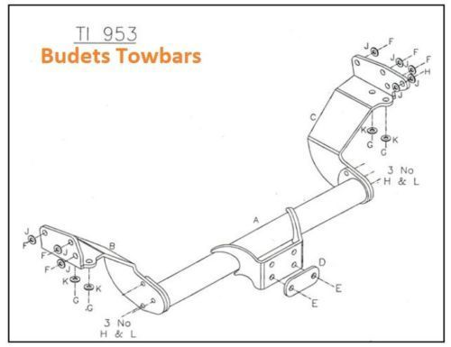 Isuzu Rodeo 2WD/4WD (No Bumper) 2003-12 - Tow Trust Fixed Flange Tow Bar