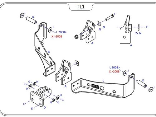 Range Rover Sport 2005 - 2013 - Tow Trust Fixed Flange Tow Bar