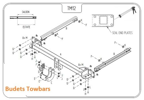 Mercedes E-Class Estate (S212) 2010 Onwards - Tow Trust Fixed Flange Towbar