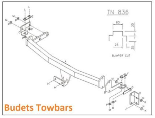Nissan Almera (Not Sports) 2000-2006 - Tow Trust Fixed Flange Towbar Kit