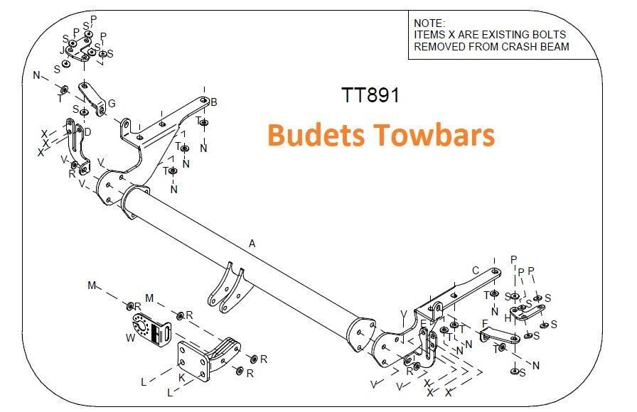 Toyota Rav 4 (All Models 2006-2013) - Tow Trust  Flange Tow Bar Kit
