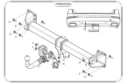 Volvo XC90 2015 Onwards - Tow Trust Detachable Towbar