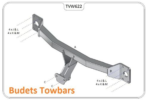 VW Touareg (Not with Spare Wheel On Rear Door) 2003 - 2018 - Tow Trust Flange Towbar