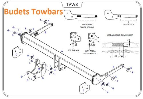 VW Tiguan (Inc. R-Line) 2016 Onwards - Tow Trust Flange Towbar