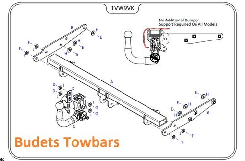 VW Transporter T5 (All Models) 2003 - 2015 - Tow Trust Detachable Towbars