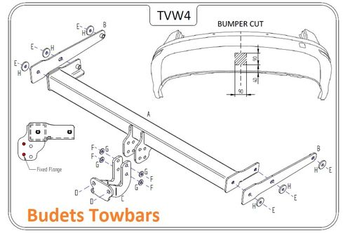 VW Sharan 2010 Onwards - Tow Trust Flange Towbar
