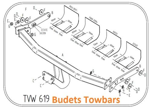 VW Polo Hatch 2002 - 2009 - Tow Trust Flange Towbar