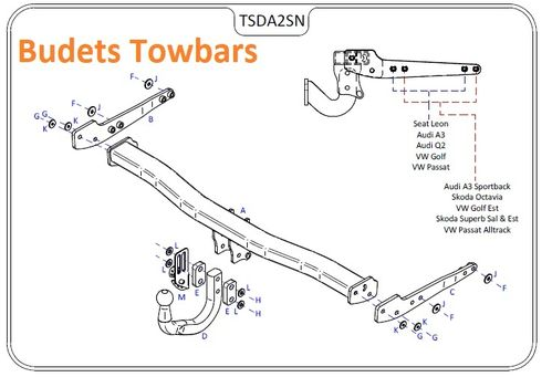 VW Passat Est (B8) (Inc. GT) 2015 Onwards - Tow Trust Swan Neck Towbar