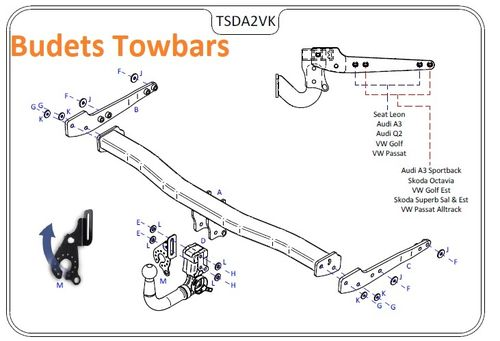 VW Passat Est (B8) (Inc. GT) 2015 Onwards - Tow Trust Detachable Towbar