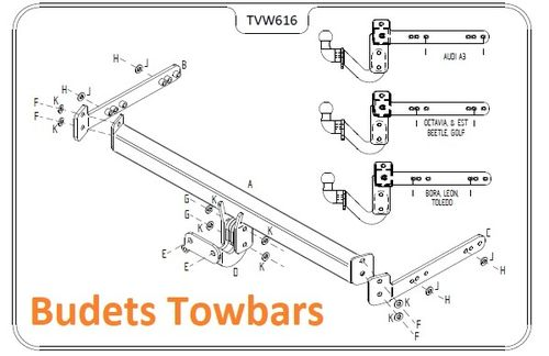 VW Golf Estate 1999 - 2007 - Tow Trust Flange Towbar