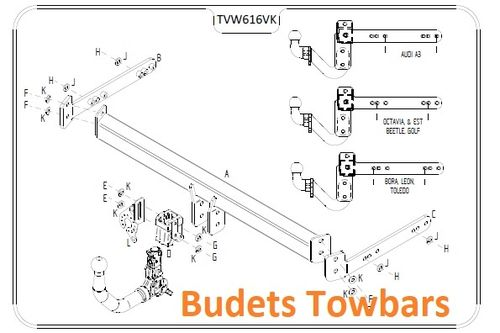 VW Golf 4 Estate 1999 - 2007 - Tow Trust Detachable Towbar
