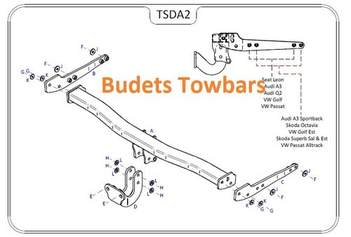 VW Golf 7 Estate 2013 Onwards - Tow Trust Flange Towbar