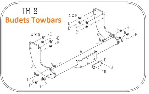 VW Crafter Chassis Cab / Pick Up (5 Tonne) (Low Ball Height) 2006 - 2017 - Tow Trust Flange Towbar