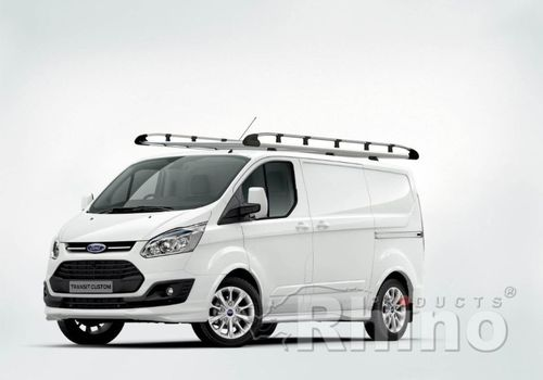 Rhino Aluminium Roof Rack - Transit Custom (H1, L1, Twin Door) 2013 Onwards