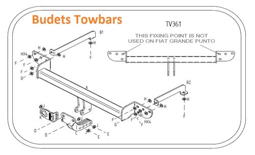 Vauxhall Corsa D (Not VXR Or Models With Cycle Carrier) 2006 - 2015 - Tow Trust Flange Towbar