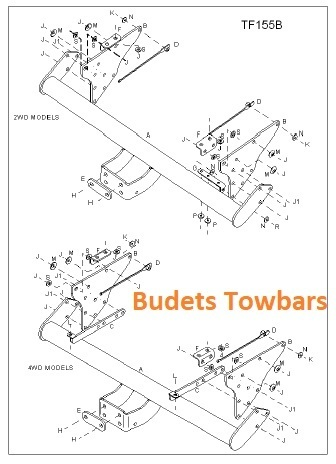 Ford Ranger Pickup 2WD & 4WD All Models Inc. 2006 Facelift 1999 - 2012 - Tow Trust Flange Towbar