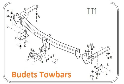 Lexus RX300/350 (With Underslung Spare Wheel Only) 2003 - 2009 - Tow Trust Flange Towbar