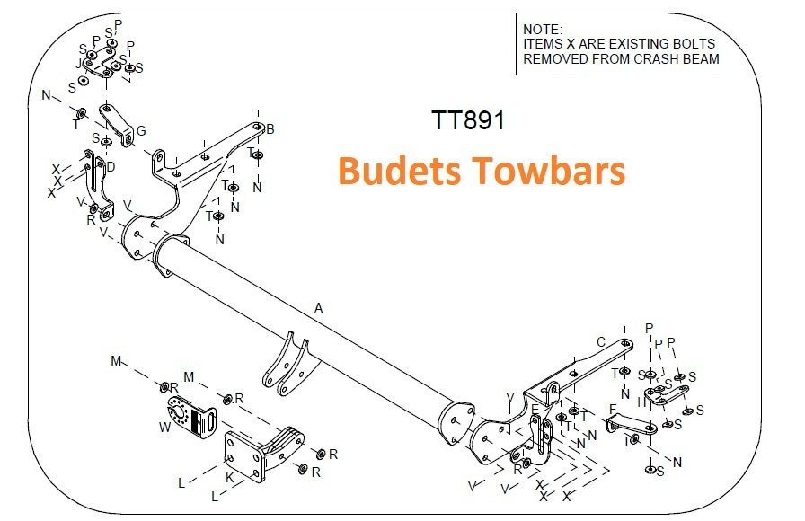 Toyota Rav 4 (XA30) (Models with Number Plate Obscured) 2006-13 - Tow Trust Flange Towbar