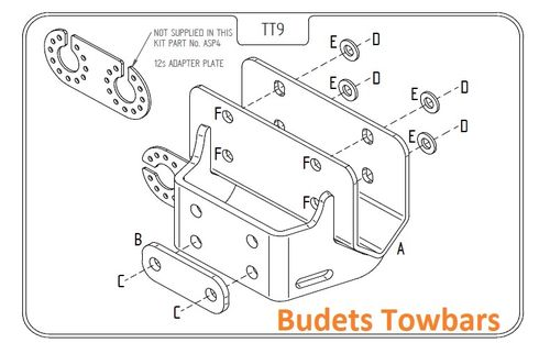 Toyota Hi-Lux 4WD With Under Run Beam 2011 - 2016 - Tow Trust Flange Towbar