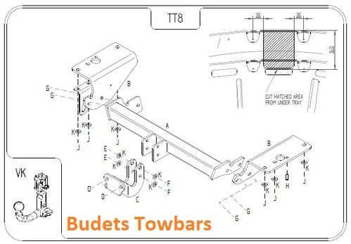 Toyota Avensis Estate T27 2009 Onwards - Tow Trust Flange Towbar