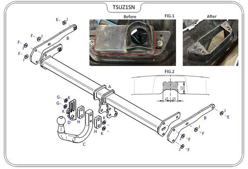Suzuki SX4 (S-Cross) 2013 Onwards - Tow Trust Swan Neck Towbar