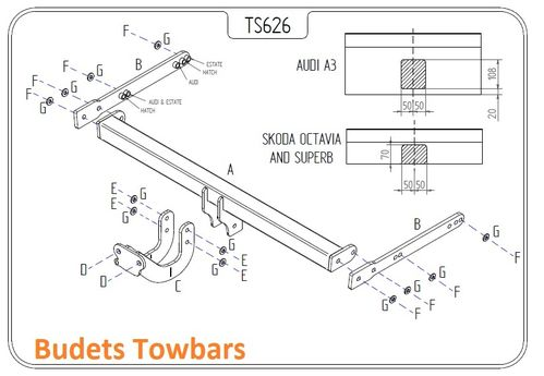 Skoda Superb Estate 2010 - 2015 - Tow Trust Flange Towbar