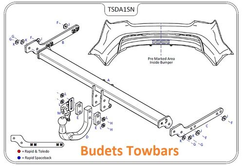 Seat Toledo 2013 Onwards - Tow Trust Swan Neck Towbar