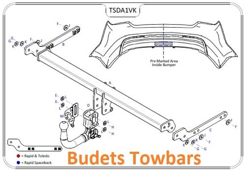 Seat Toledo 2013 Onwards - Tow Trust Detachable Towbar