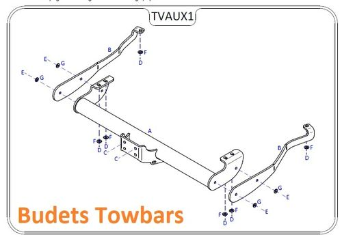 Renault Trafic Towbar 2014-2019 Tow Trust Flange Towbars