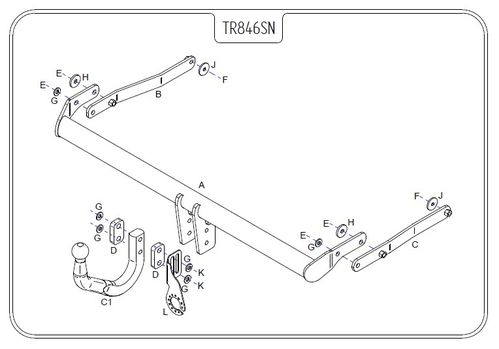 Renault Scenic 2 (Not RX4) 2003 - 2009 - Tow Trust Swan Neck Towbar