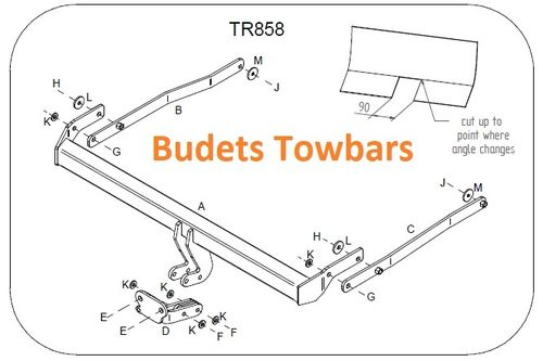 Renault Megane II Coupe Cabriolet 2003 - 2010 - Tow Trust Flange Towbar
