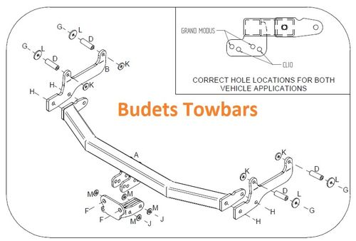 Renault Clio 3 2005 - 2013 - Tow Trust Flange Towbar