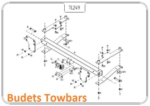Range Rover (L322)  2002 - 2012 - Tow Trust Flange Towbar